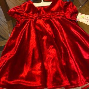 Little girls red velvet dress! NWT size 24mo